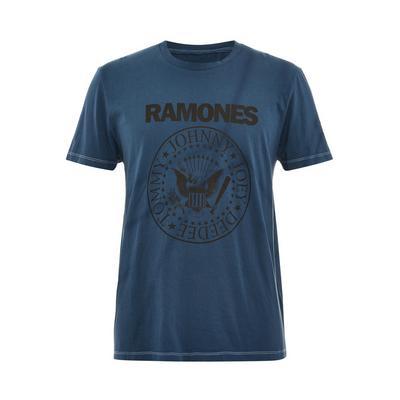 T-shirt bleu marine tie and dye Ramones