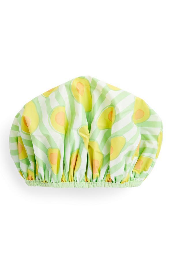 Avocado Print Fruity Shower Cap