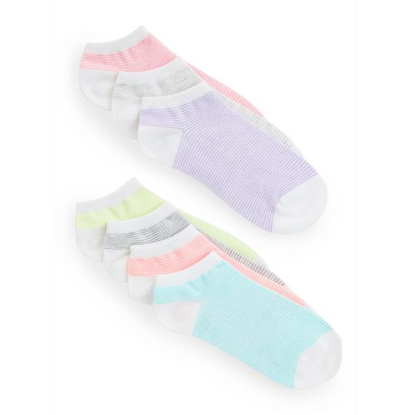 Contrast Pastel Ankle Socks 7 Pack