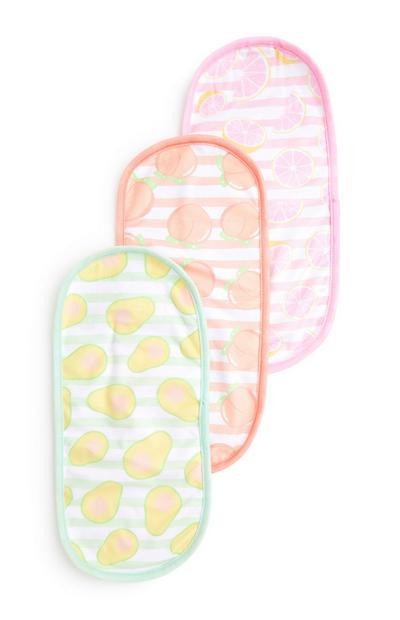 Reinigungstücher mit Früchte-Motiv, 3er-Pack