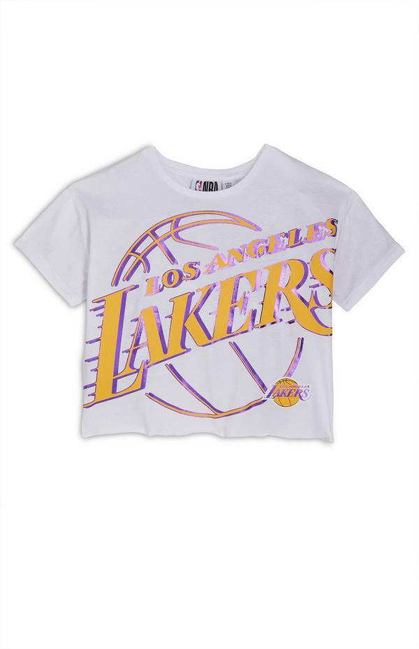 T-shirt bianca NBA LA Lakers da ragazza