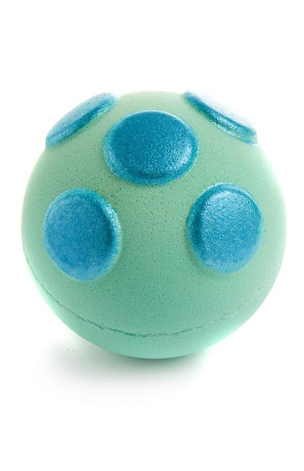 Bombe de bain turquoise à boules en relief