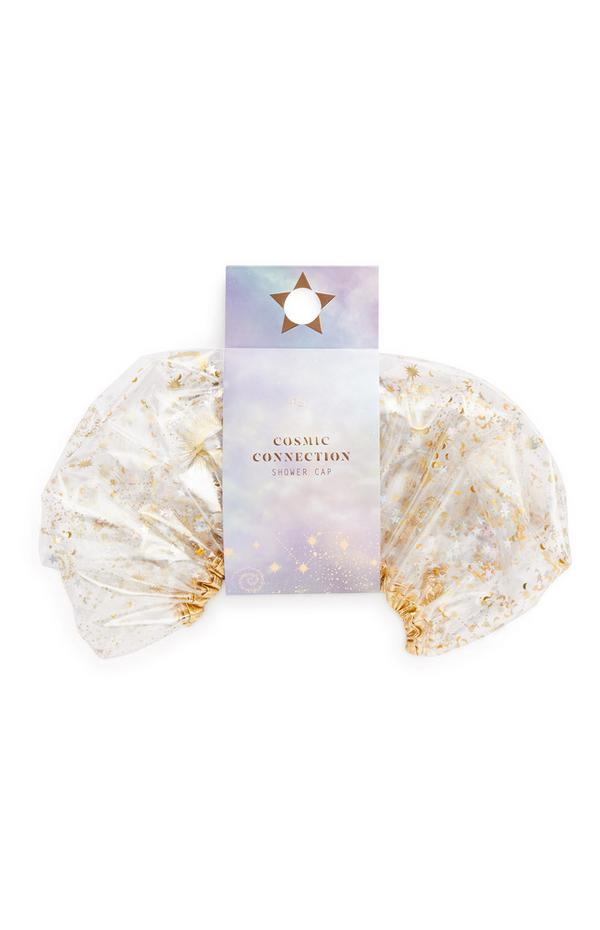 Ps Cosmic Connection Gold Glitter Shower Cap