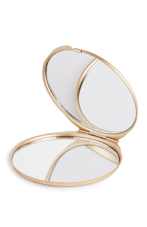 PS Cosmic Connection Goldtone Compact Double Mirror