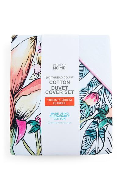 Paradise Floral Double Duvet Cover Set