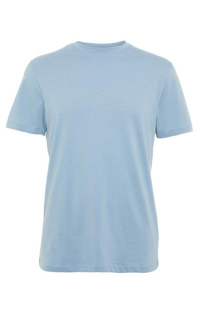 Light Blue Tailored Fit Crew Neck T-Shirt