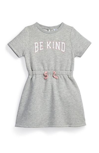 Younger Girl Grey Be Kind Tie Waist Sweat Dress