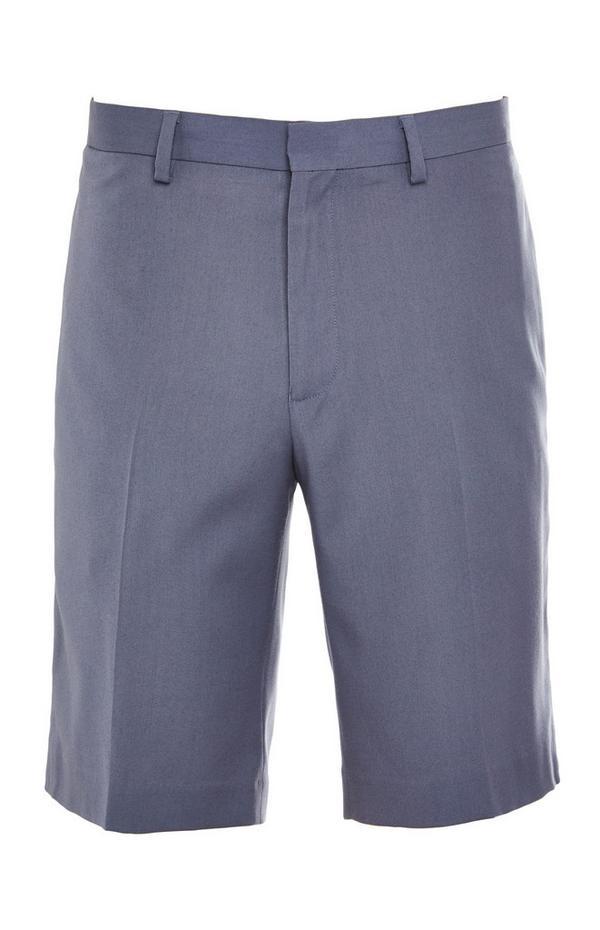 Pantalón corto azul empolvado premium