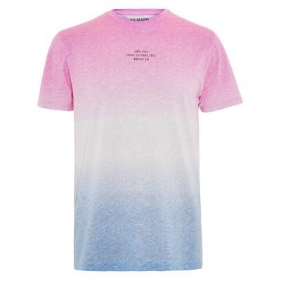 Pink And Blue Dip Dye T-Shirt