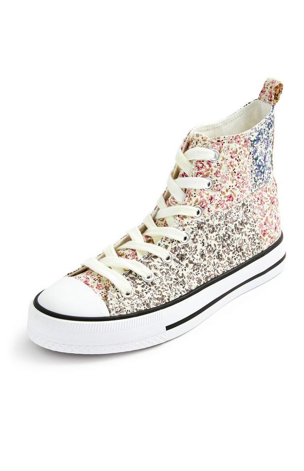 Ditsy Floral High Top Trainers