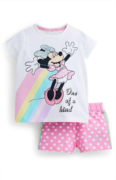 Pigiama rosa corto Minnie Disney da bambina