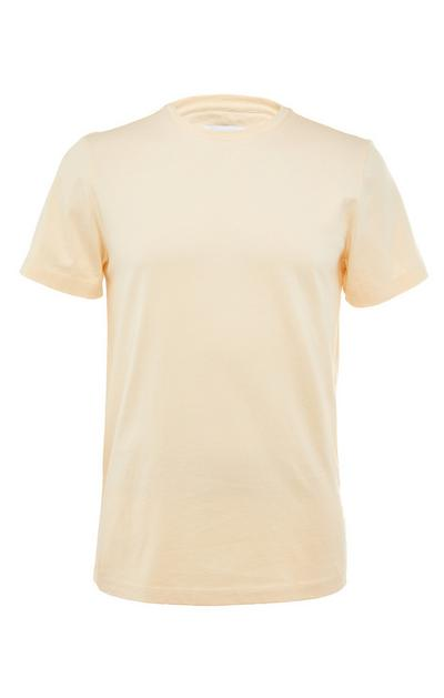Yellow Premium Mercerised Cotton Crew Neck T-Shirt
