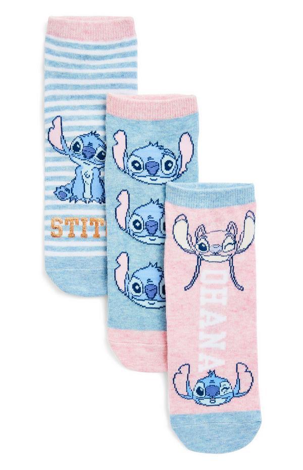3-Pack Disney Stitch Striped Socks