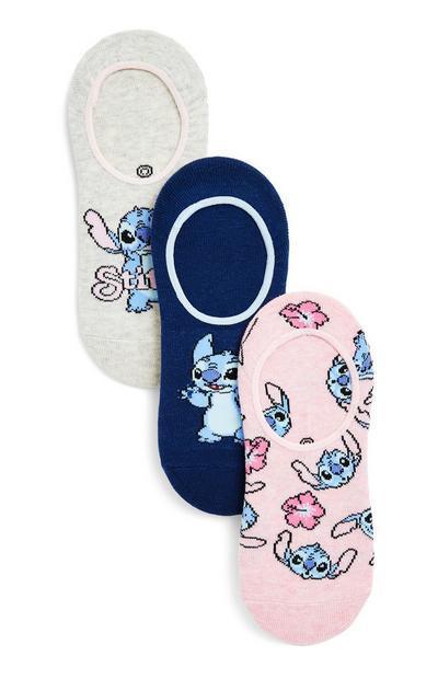 Disney Stitch Invisible Socks 3 Pack