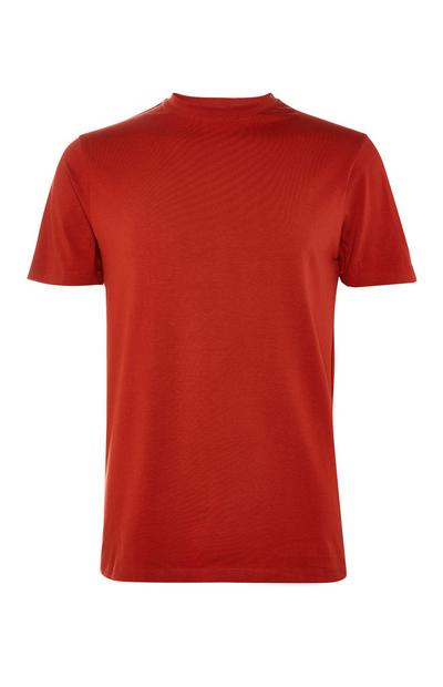 Red Stretch Crew Neck T-Shirt