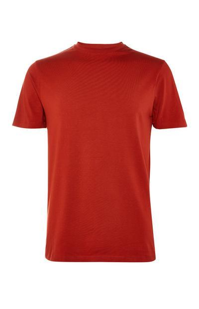 T-shirt rossa girocollo elasticizzata