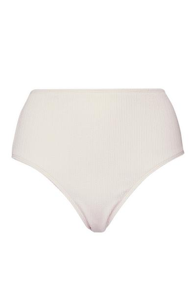Ivory High Rise Bikini Briefs