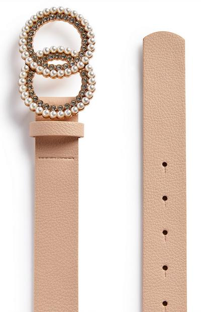 Blush Pink Pearl Circle Infinity Belt