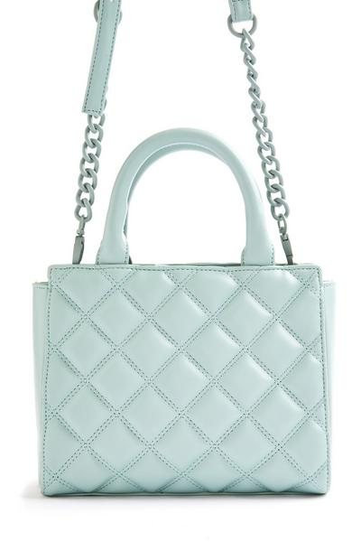 Mint Quilted Tonal Mini City Bag