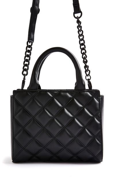 Black Quilted Tonal Mini City Bag