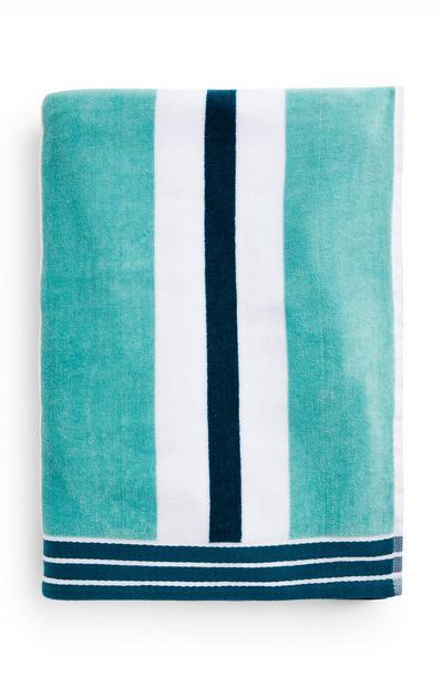 Navy Mixed Stripe Beach Towel