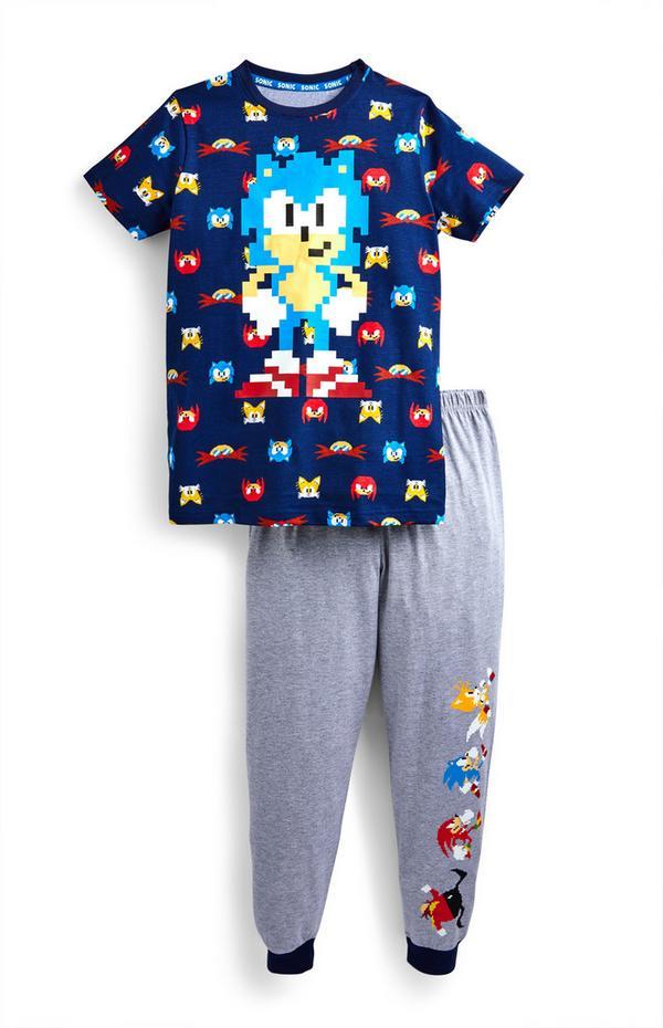 "Blaues ""Sonic the Hedgehog"" Pyjamaset (Teeny Boys)"