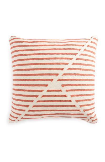Orange Geometric Stripe Cushion 50cm X 50cm