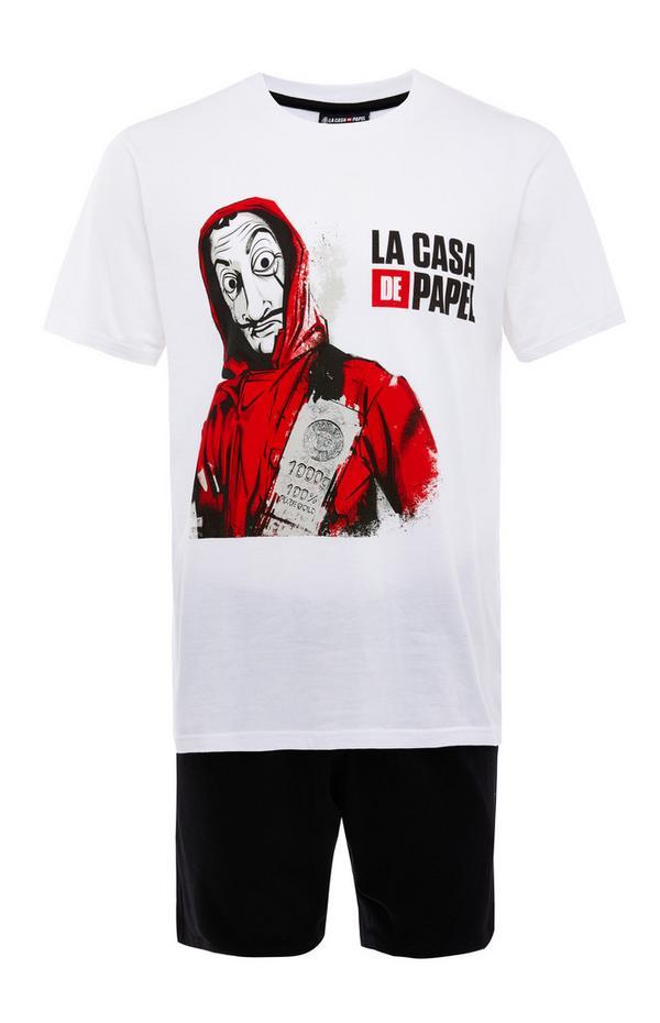 Pyjama monochrome La Casa De Papel avec short