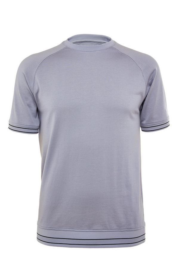 Grijs T-shirt van gemerceriseerd katoen met ronde hals