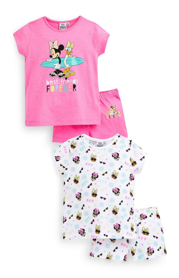 Younger Girl Pink Disney Minnie Mouse Pyjamas 2 Pack