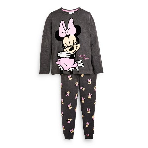 "Anthrazitfarbenes ""Disney Minnie Maus"" Pyjamaset (Teeny Girls)"