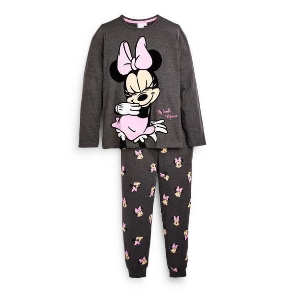Donkergrijze pyjama Disney Minnie Mouse voor meisjes