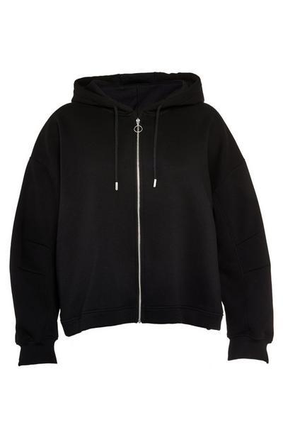 Zwarte hoodie met stretch