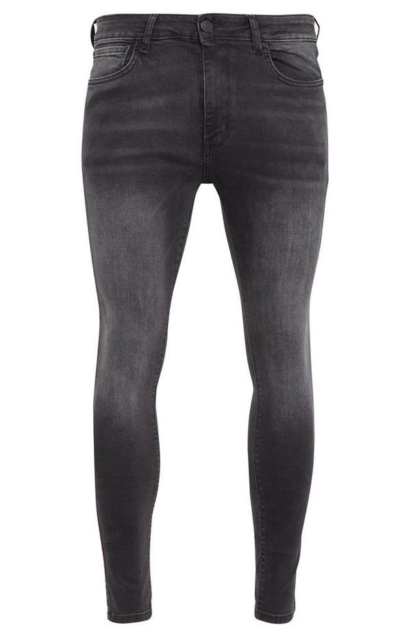Donkergrijze superskinny jeans
