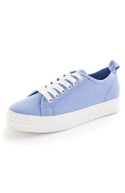 Lilac Lace Up Trainers