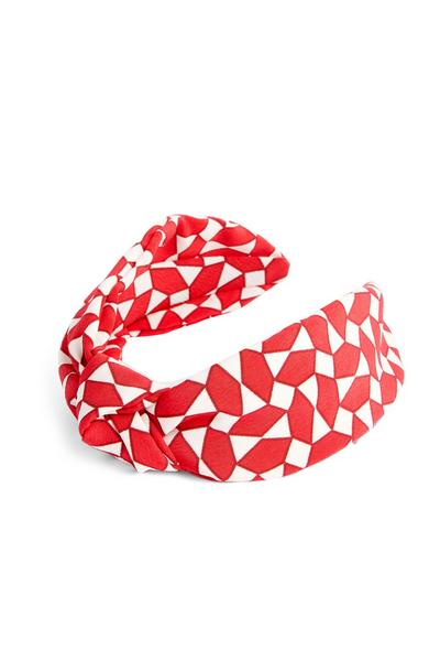 Red Geometric Knot Headband