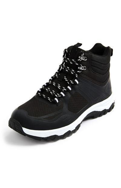 Schwarze High-Top-Trekkingsneaker
