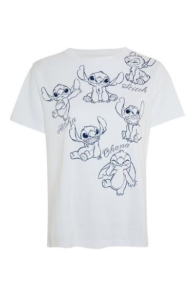 Wit T-shirt met Lilo & Stitch-print
