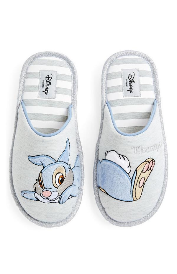 Grijze pantoffels Disney Stampertje