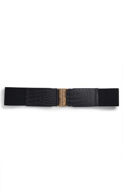 Black Elasticated Waist Belt