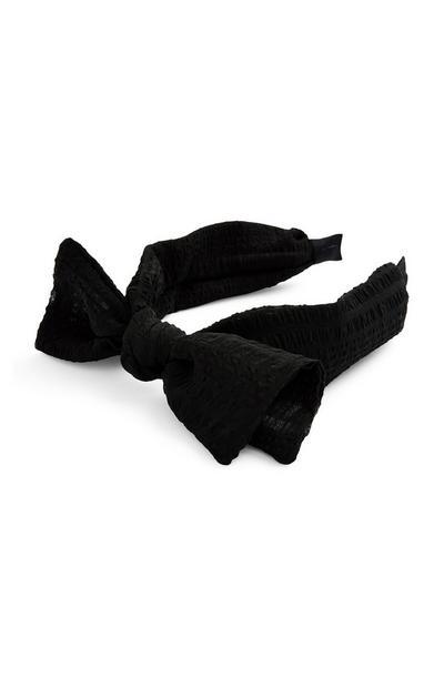 Black Large Knot Bow Headband