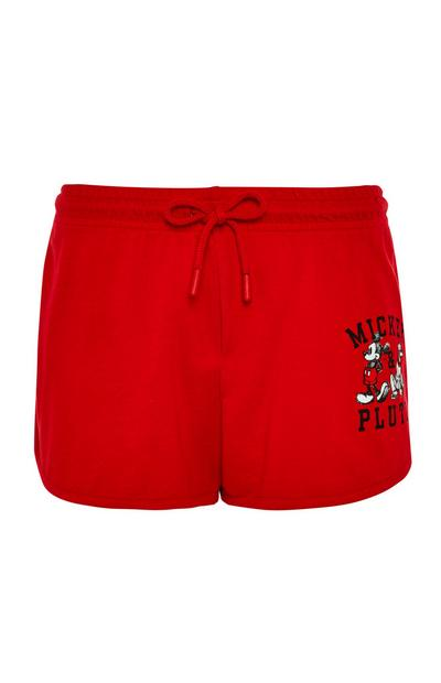 Rode Disney Mickey Mouse-short met trekkoordje in de taille
