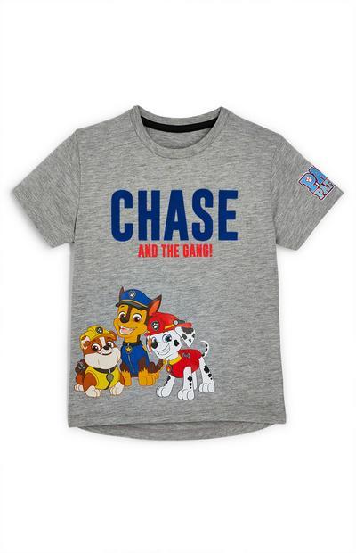 T-shirt Paw Patrol Chase Paw menino