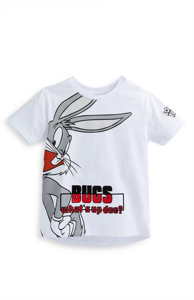 Younger Boy White Bugs Bunny T-Shirt