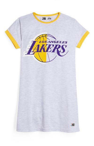 T-shirt dormir NBA LA Lakers rapariga cinzento