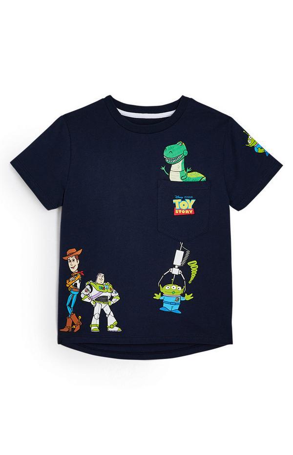 T-shirt Toy Story menino azul-marinho