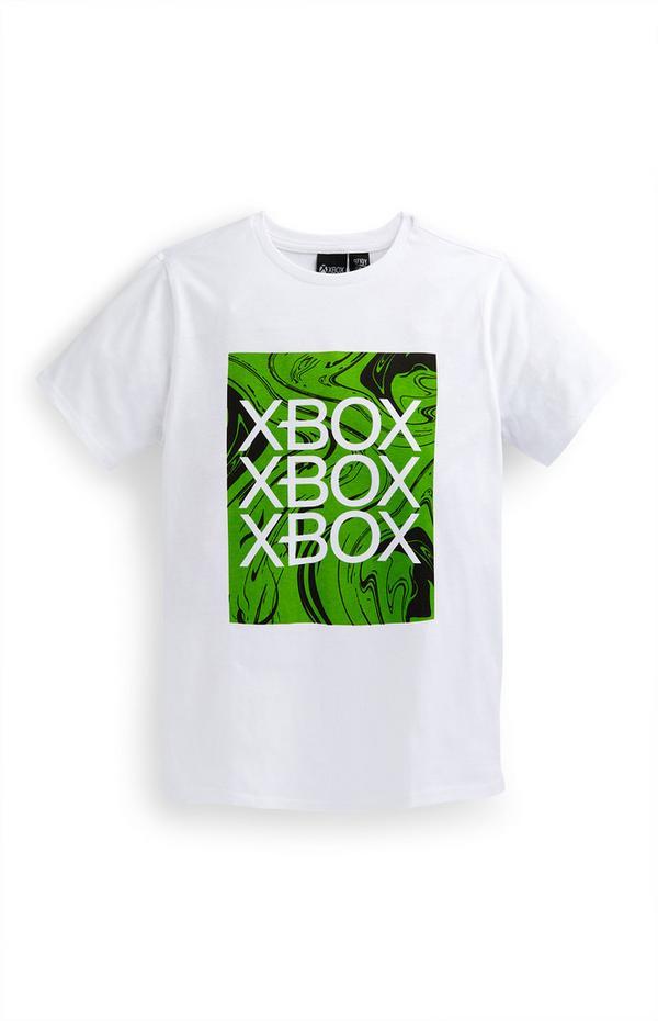 T-shirt blanc à imprimé Xbox ado