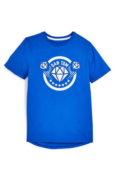 Older Boy Blue Dan TDM Embossed T-Shirt