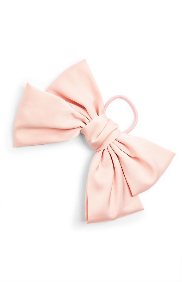 Lazo de raso rosa claro extragrande