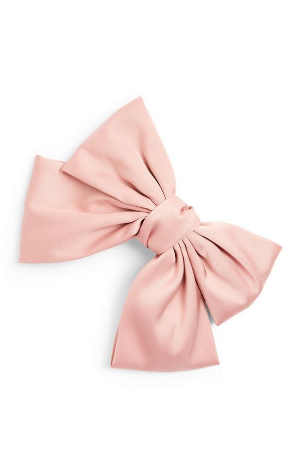 Extra grote roze satijnen strik